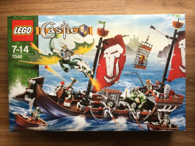 LEGO Castle 7048 Troll Warship RARE! Brand New Factory Sealed