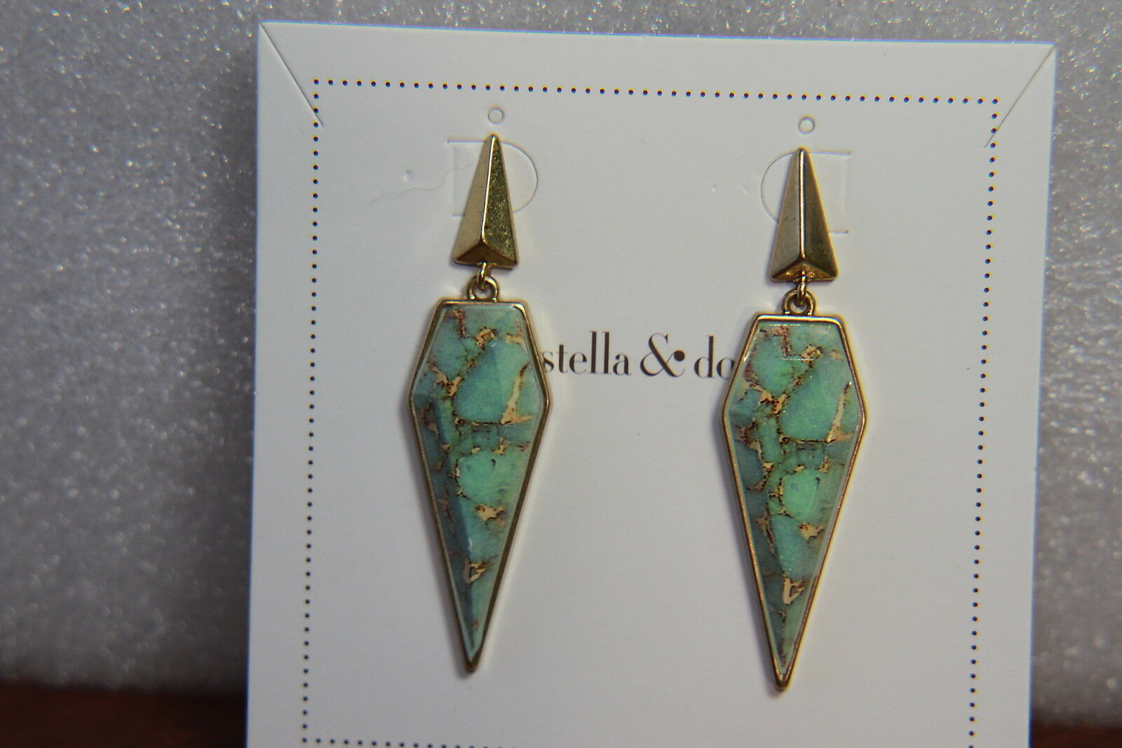 Stella & Dot Earrings (new) WINONA DROPS gold (E446G)