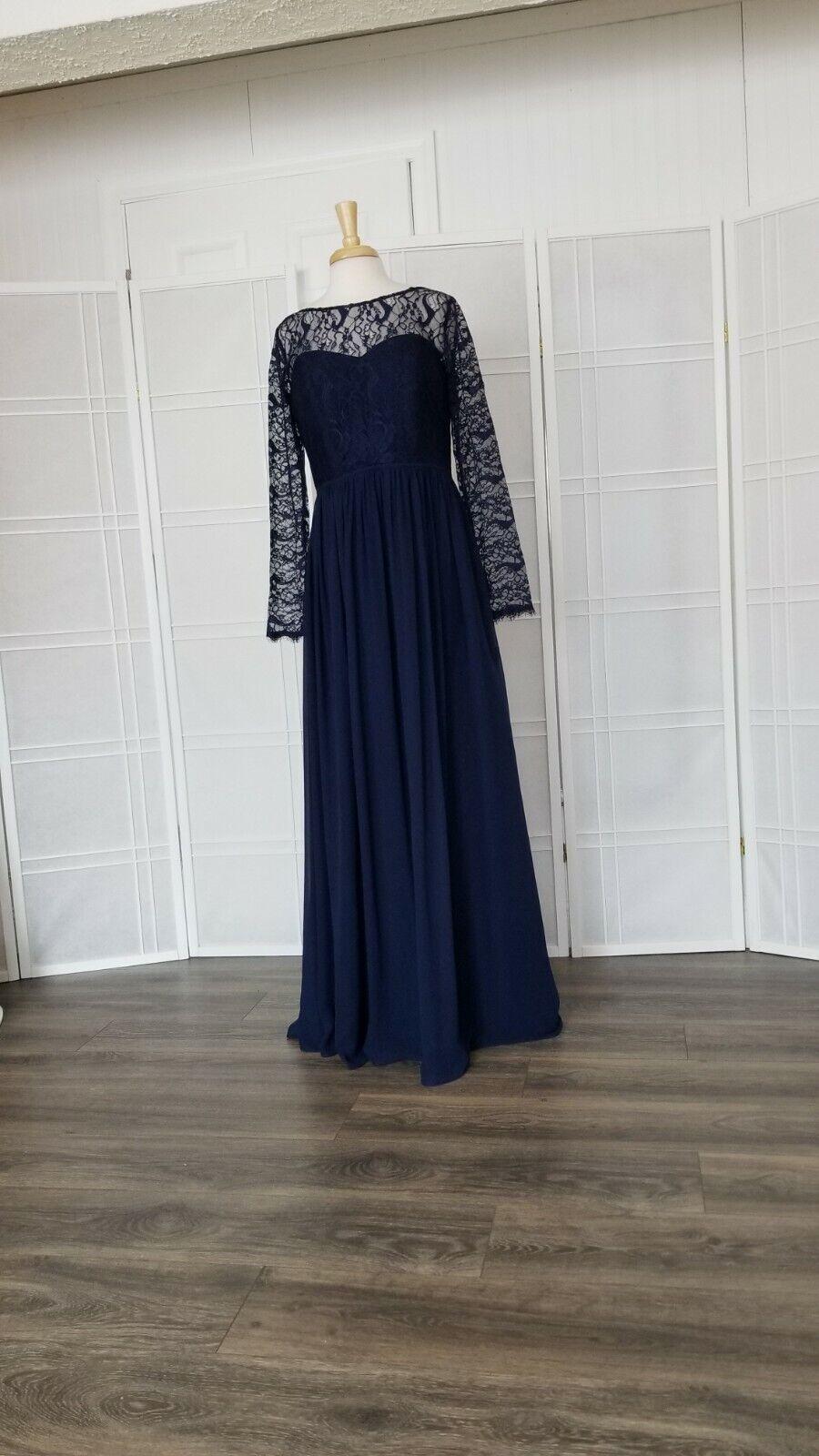 dress size 14 color navy/indigo designer Hayley Paige