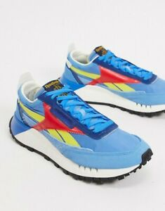 men's reebok classic leather legacy casual shoes blue