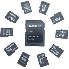 10 x 512MB Branded MicroSD Memory Cards with SD Adaptor