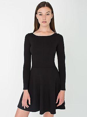 American Apparel Genuine Ponte Long Sleeve Skater Dress