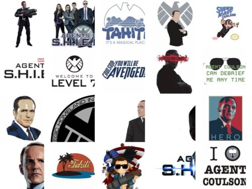 Agent Coulson Iron on Diy Heat T-shirt fabric transfer Agents of SHIELD Marvel