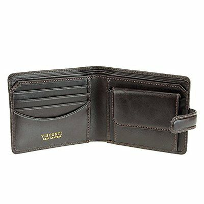 Visconti 723 Mens Genuine Distressed Leather Wallet ID Coin Purse Brown Gift
