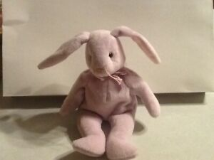 """TY Beanie Babies """"HOPPITY"""" the Pink Easter Bunny RABBIT - MWMTs! RETIRED! GIFT!"""