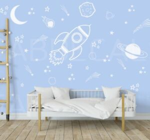 Details About E Wall Decals Rocket Decal Ship Boys Room Decor Outer 288