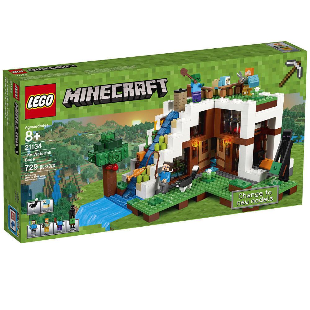 Lego Minecraft die Wasserfall Basis Set 21134