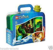 Set of 2 Lego Chima Lunch Box Water Bottle Kids Boys School Storage Foods Green