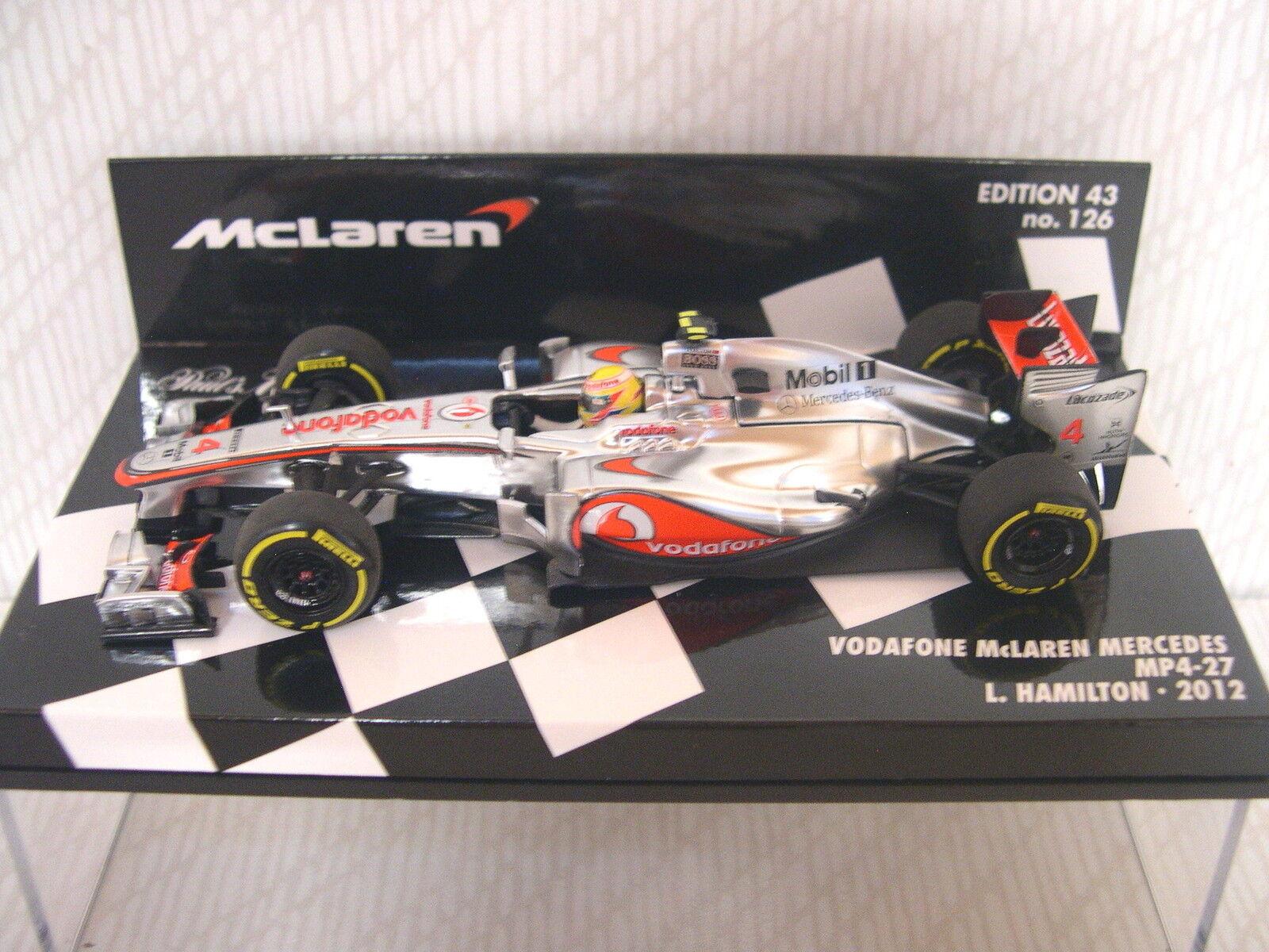 Minichamps McLaren Merecedes MP4-27 Hamilton 2012 REF 537 124304