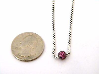 3e6ed9c801a8d David Yurman Petite Pave Single Station Necklace with Pink Sapphires 17-18