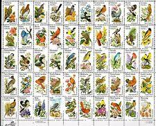 USA - 1982 Birds & flowers of the 50 states - Mi. 1532-81 full sheet MNH