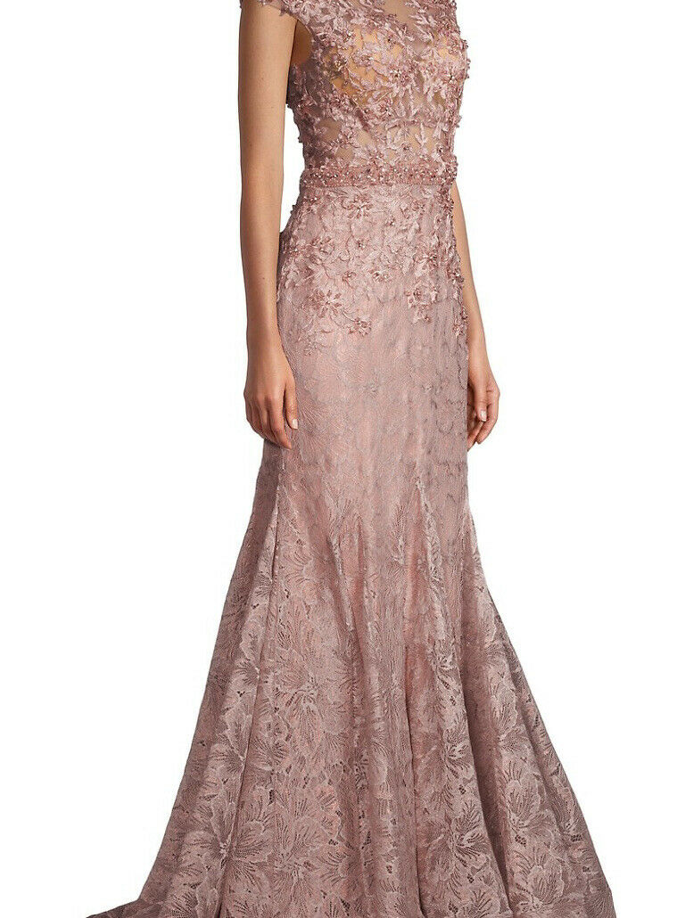 mac duggal Beaded Lace gown Size 12 New With Tag