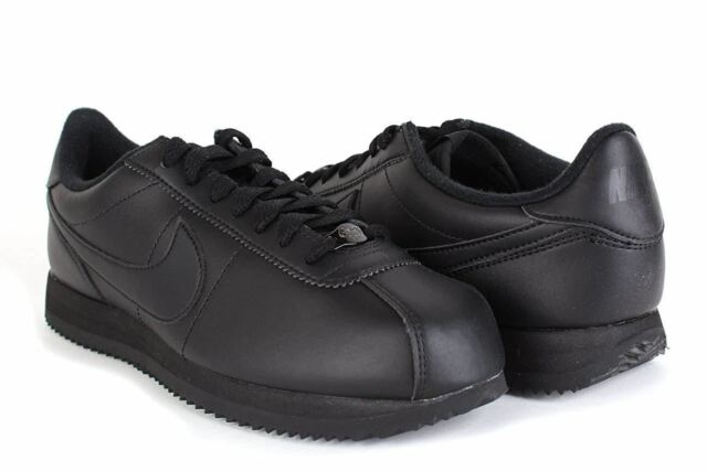 timeless design 5230c c4d54 Nike Men s Cortez Basic Leather 819719001 Black  Black Shoes