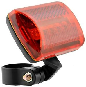 5 LED Bike Tail Light Bicycle Safety Cycling USB Rechargeable Warning Rear Lamp