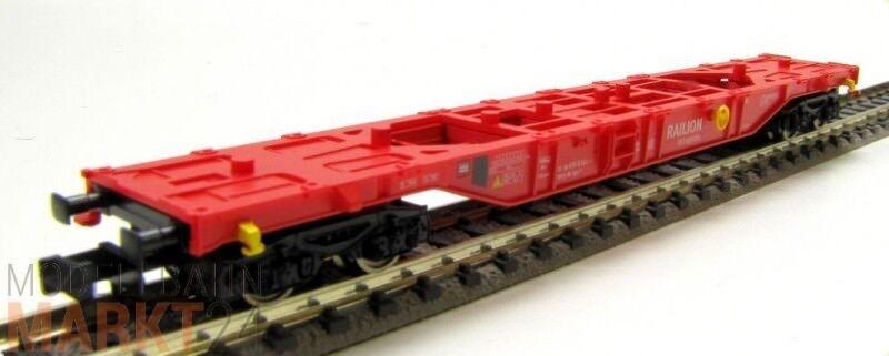FLEISCHMANN DB-RAILION Containertragwagen Sgns 455 6 144-2 unbeladen Ep V N NEU
