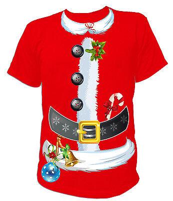 2020 Männer Weihnachten T-shirt Langärmlig Weihnachtsmann Kostüm Shirt Top Neu
