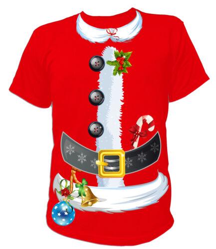 Weihnachten Santa Claus Kostüm Merry Christmas Weihnachtsmann UNISEX T-Shirt