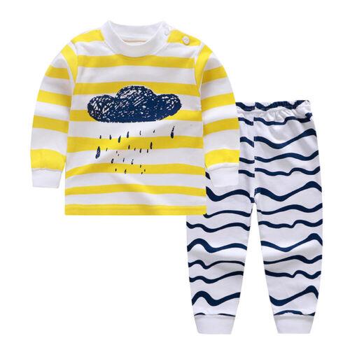 PANTS COTTON PAJAMAS SLEEPWEAR OUTFIT FADDIH KIDS BABY BOYS GIRLS CLOTHES TOP