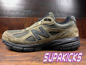Details zu New Balance M990MG4 (Military Green) Suede Running 990v4 Made in  USA Mens 8-13