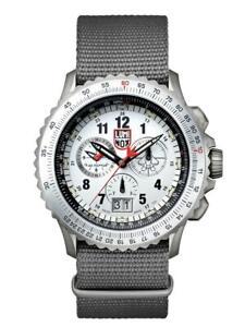 New-Luminox-F-22-RAPTOR-White-Dial-NATO-Band-Men-039-s-Titanium-Watch-XA-9249