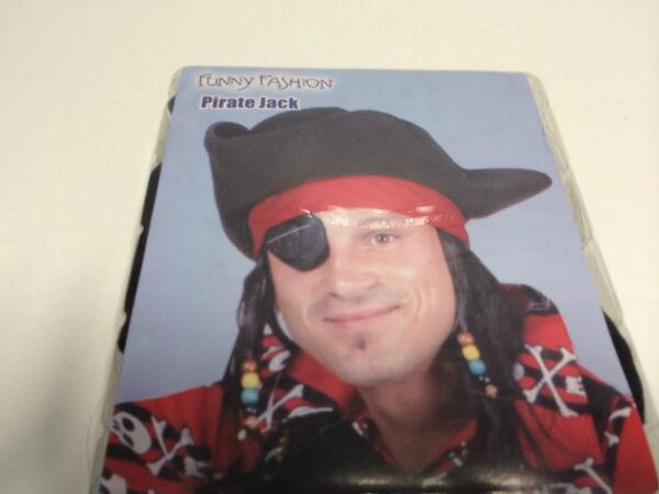 100% Verdadero Los Hombres Pirata Piratas Sombrero Bucanero Peluca Carnaval Carnaval-ver