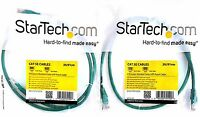 X2 Startech M45patch3gn Cat 5e Cables 3 Ft Green Molded Cat5e Utp Patch Cable