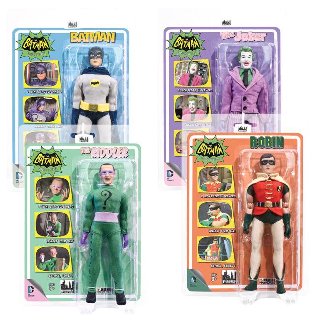 Batman 66 Classic TV Show Retro Style 8 Inch Figures Series 1 Set of all 4