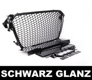Waben-Kuehlergrill-fuer-Audi-A4-B8-8K-Hochglanz-Schwarz-S4-RS4-look-12-15-Facelift