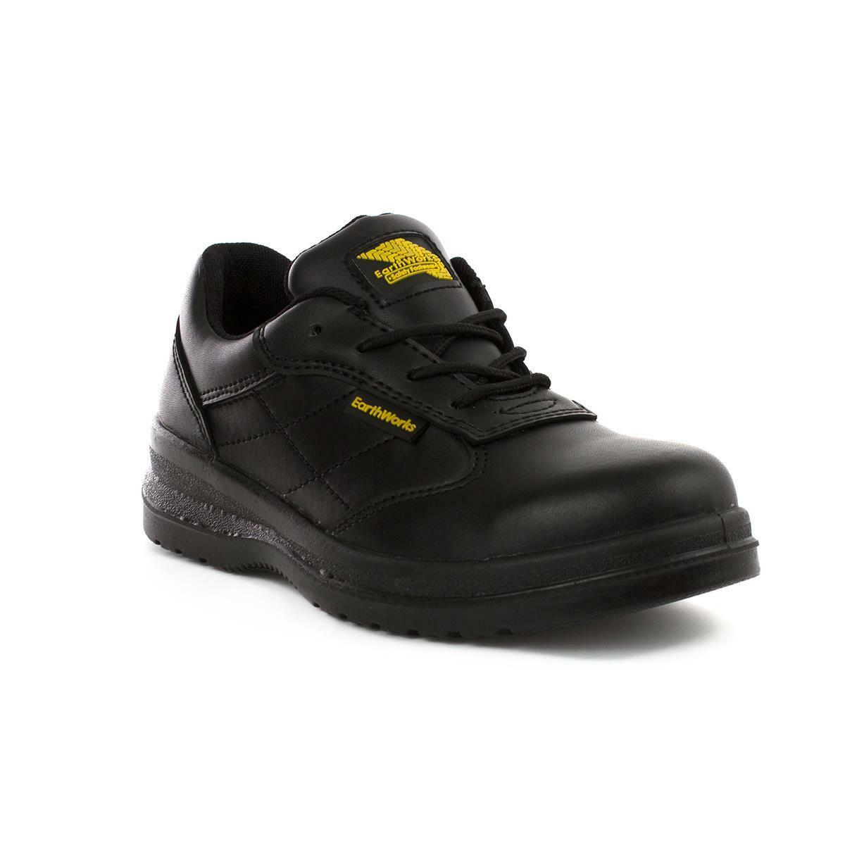 Earth Works Safety - Earth Works Unisex Safety Black Lace Up shoes
