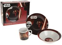 Starwars Breakfast Set 3 Piece Porcelain Plate Bowl Mug Children Kids Dinner Set