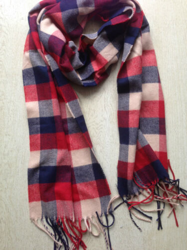 Tartan Scarf Check Shawl Unisex  Neck Warm Wrap Plaid 180x30 cm