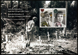 1991-Women-Remembers-Minisheet-ANZAC-Stamps-Mint-Australia