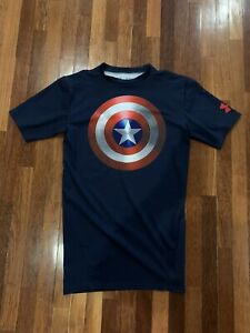 Authentic-Under-Armour-Captain-America-shirt-Size-Medium-Limited-edition