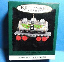 """Hallmark """"Milk Tank Car"""" Miniature Ornament 1995"""