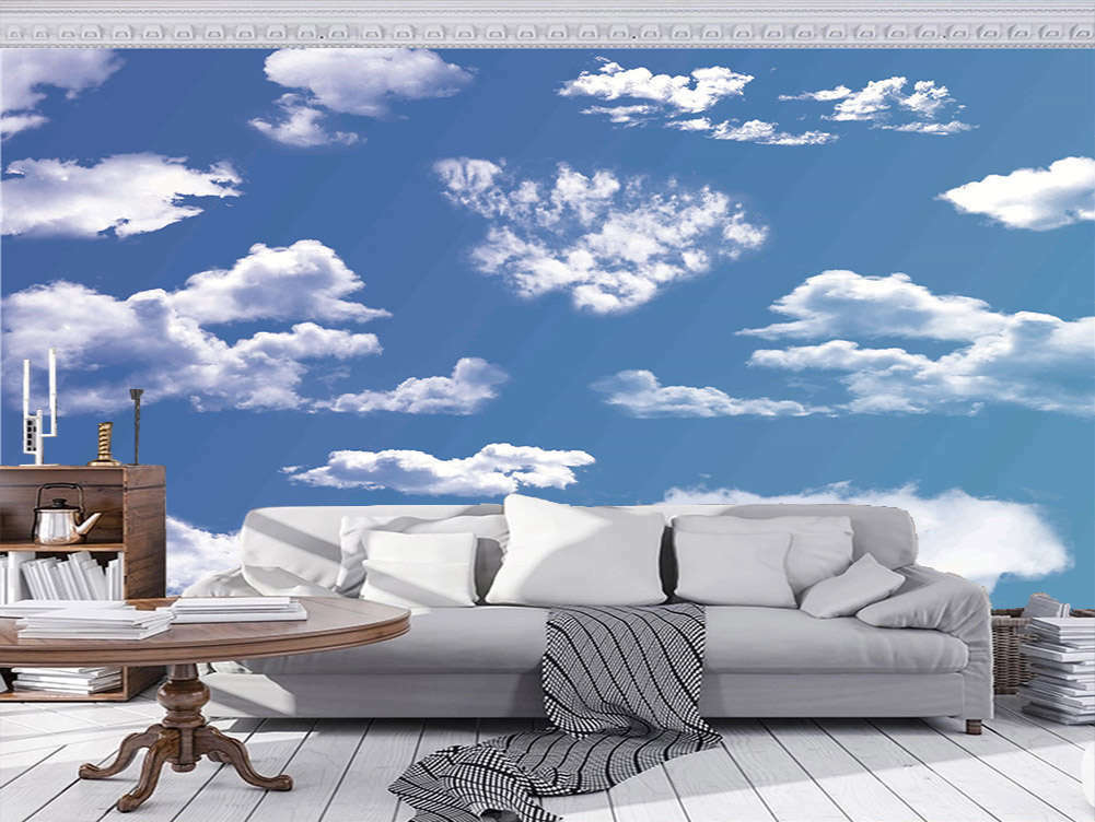 Promising Pure Cloud 3D Full Wall Mural Photo Wallpaper Printing Home Kids Decor
