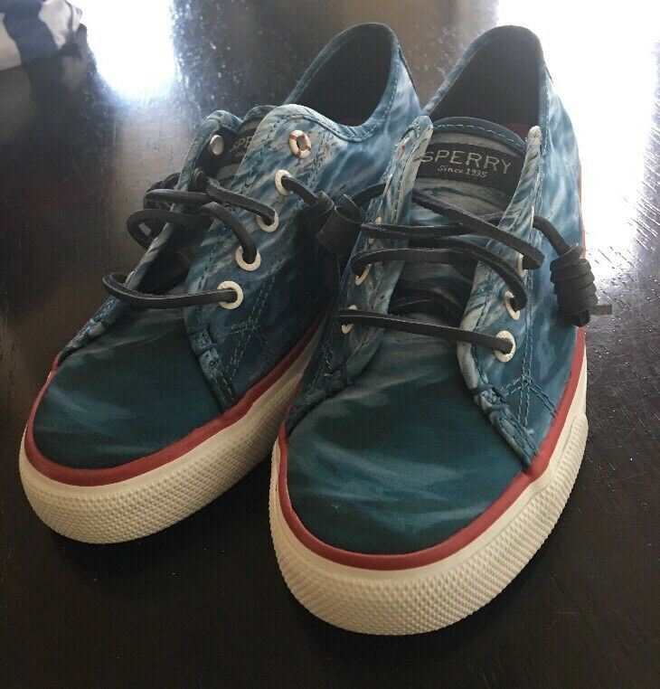 Sperry Top-Sider Jaws Movie Seacoast Casual Casual Casual shoes bluee Water Womens Size 7 M ecff53
