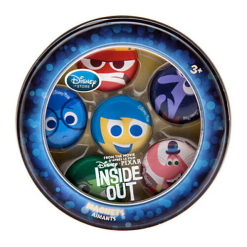 Disney Store INSIDE OUT MAGNET SET 6 Pcs Anger Bing Fear Joy Disgust Store NEW!
