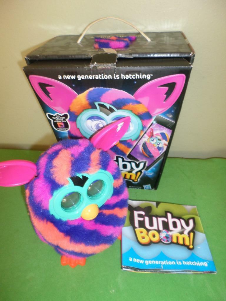 2012 Furby Boom Hot Pink Striped W Box Instructions Working