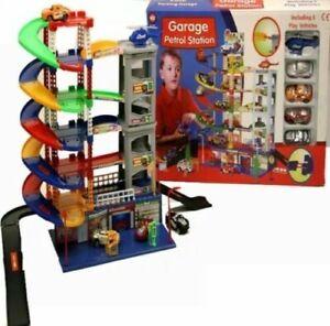 Construir-aparcamiento-propio-nivel-6-AUTO-PARKING-GARAJE-gasolinera-jugar-juguete-Diecast