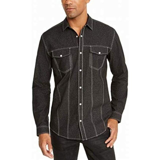 MSRP $65 INC Mens Shirt Lambert Button Snap Stitch Long Sleeve Size XL