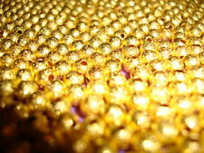 80pcs 5mm Gold Plated stardust ball spacer beads jewellery making findings