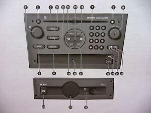 Vauxhall audio ncdc siemens manual radio operation