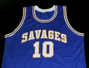 newest 293ff 366a2 DENNIS RODMAN OKLAHOMA SAVAGES JERSEY BLUE NEW SEWN ANY SIZE ...
