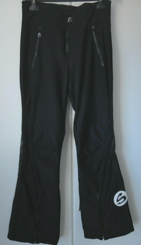 Stylische elastische Damen Jethose Skihose Sportalm schwarz high waist Gr 40 NEU