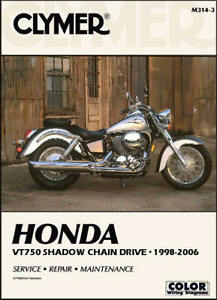 1998 2006 honda shadow spirit ace vt 750 chain drive clymer repair rh ebay com Honda Shadow Ace 750 1983 honda shadow 750 shop manual