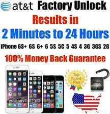Factory Unlock Service/Code AT&T iPhone 3 3GS 4 4S 5 5C 5S 6 6+ 6S 7 7+ Plus