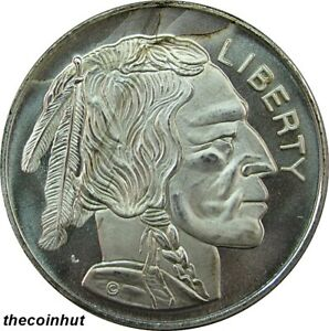 1-Troy-oz-Buffalo-Indian-Head-999-Fine-Silver-Art-Round-Coin-CoinHut5134-3