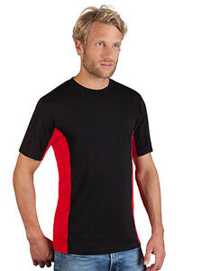 HOMME-HAUT-SPORT-MANCHES-COURTES-COOL-SEC-Fitness-Chemise-Promodoro-S-2XL-3XL
