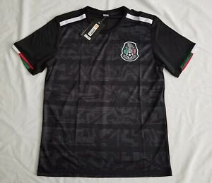 more photos f62cf bed92 Details about Men's Mexico National Team 2019 Unbranded Black Soccer Jersey