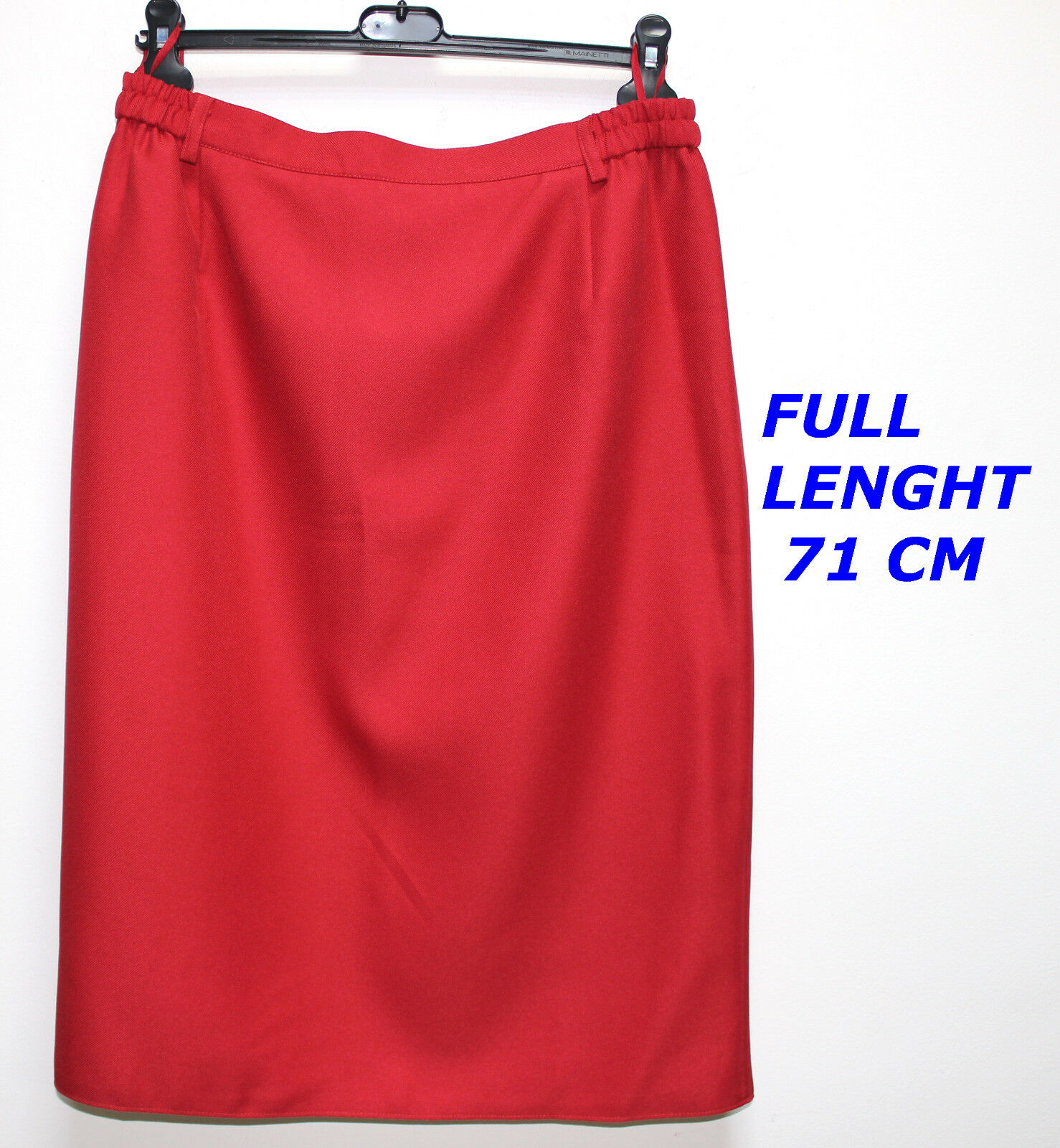 FAIR LADY MODELL TREVIRA LADIES LADY WOMAN RED COLOR SKIRT ELASTIC WAIST